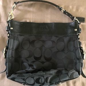 Authentic Black Coach Shoulder Bag Purse